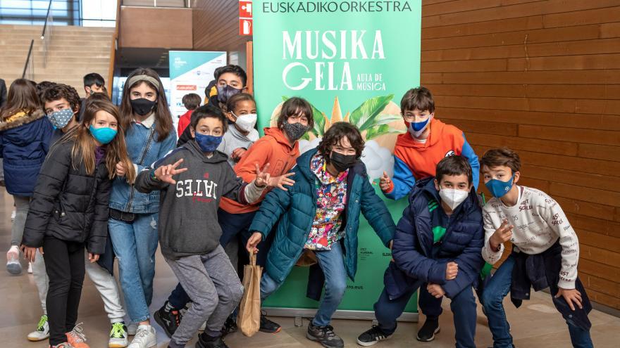 1000 eskola-umek Euskadiko Orkestraz gozatuko dute gaur eta bihar Kursaalen