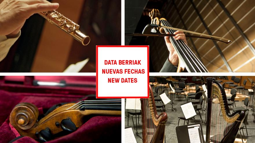 The Basque National Orchestra changes the dates of several auditions