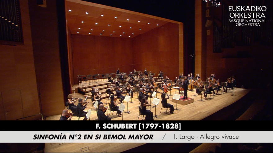 Starting from today the Basque National Orchestra launches on YouTube its concerts from the 20/21 Season